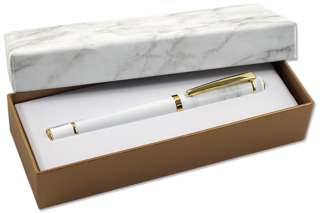 Marble RollerBall Pen with Gift Box
