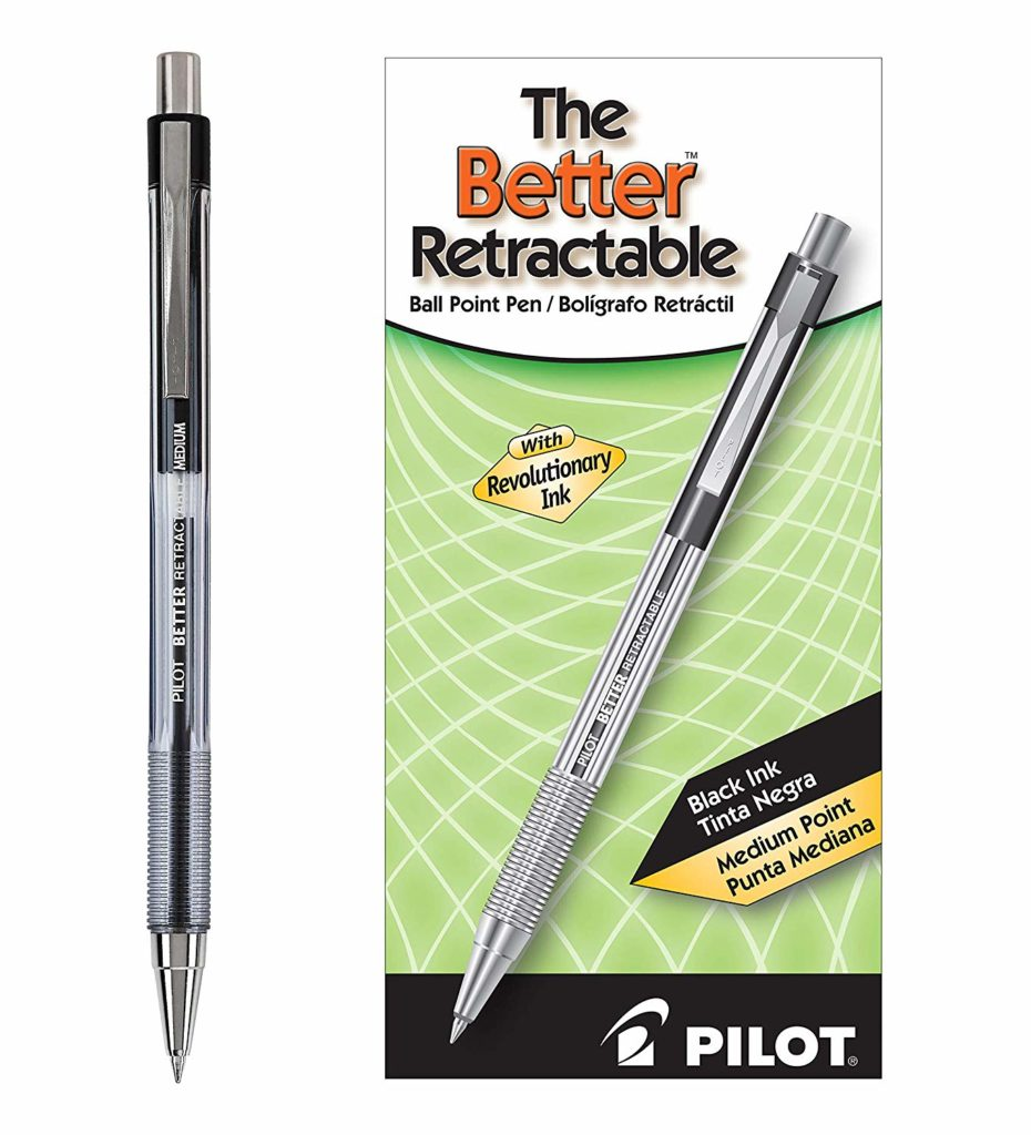 Pilot The Better Retractable Ballpoint Pens
